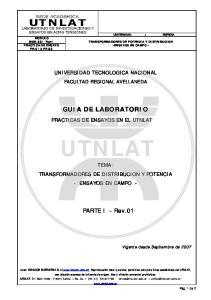 UNIVERSIDAD TECNOLOGICA NACIONAL FACULTAD REGIONAL AVELLANEDA GUIA DE LABORATORIO UTNLAT