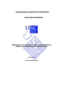 UNIVERSIDADE DE SANTIAGO DE COMPOSTELA FACULTADE DE FARMACIA