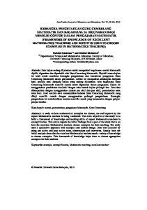 Universiti Teknologi Malaysia, Skudai, Johor *Corresponding author: