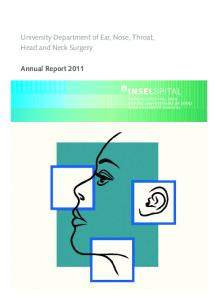 University Department of Ear, Nose, Throat, Head and Neck Surgery. Annual Report 2011