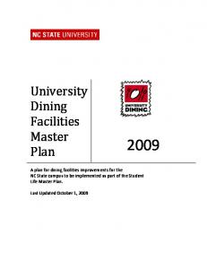 University Dining Facilities Master Plan