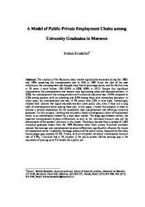 University Graduates in Morocco