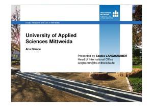 University of Applied Sciences Mittweida