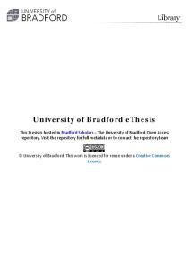 University of Bradford ethesis