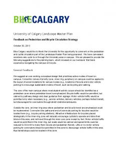 University of Calgary Landscape Master Plan