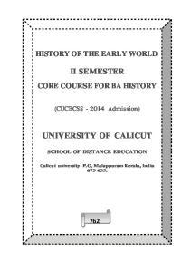 UNIVERSITY OF CALICUT