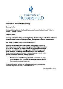 University of Huddersfield Repository