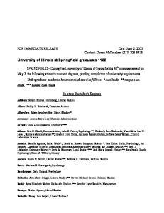 University of Illinois at Springfield graduates 1132