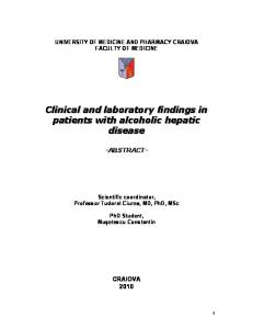 UNIVERSITY OF MEDICINE AND PHARMACY CRAIOVA FACULTY OF MEDICINE