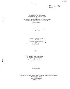 UNIVERSITY OF MINNESOTA Department of Agriculture and UNITED STATES DEPARTME&'T OF AGRICULTURE. Cooperating