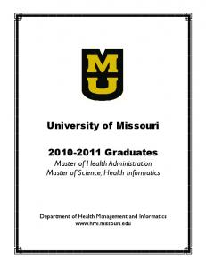 University of Missouri Graduates