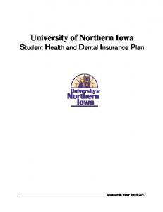 University of Northern Iowa Student Health and Dental Insurance Plan