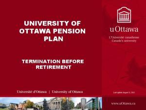UNIVERSITY OF OTTAWA PENSION PLAN