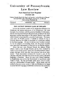 University of Pennsylvania Law Review