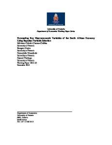 University of Pretoria Department of Economics Working Paper Series
