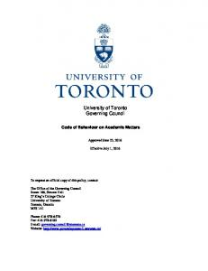 University of Toronto Governing Council