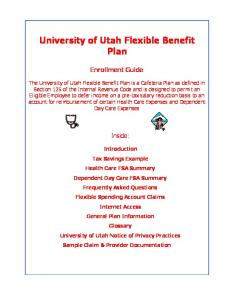 University of Utah Flexible Benefit Plan