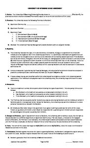 UNIVERSITY OF WYOMING LEASE AGREEMENT