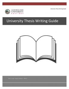 University Thesis Writing Guide