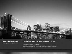 UNIVERSUM STUDENT SURVEY 2013