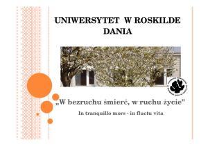 UNIWERSYTET W ROSKILDE DANIA