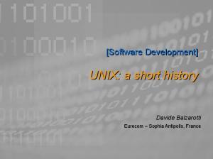 UNIX: a short history