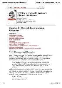 UNIX in a Nutshell: System V Edition, 3rd Edition