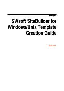 Unix Template Creation Guide