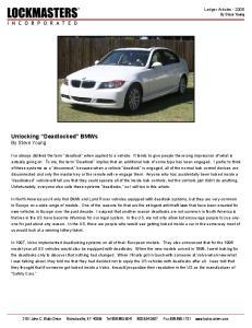 Unlocking Deadlocked BMWs