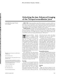 Unlocking the Jaw: Advanced Imaging of the Temporomandibular Joint
