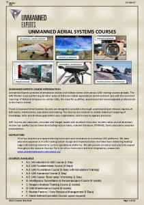 UNMANNED AERIAL SYSTEMS COURSES