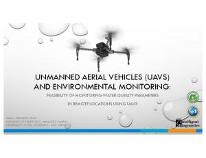 UNMANNED AERIAL VEHICLES (UAVS) AND ENVIRONMENTAL MONITORING: