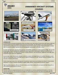 UNMANNED AIRCRAFT SYSTEMS COURSES