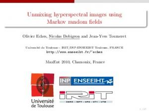 Unmixing hyperspectral images using Markov random fields