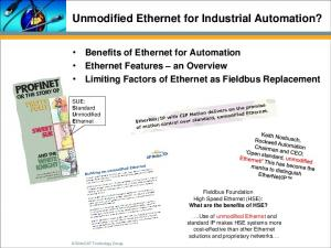 Unmodified Ethernet for Industrial Automation?