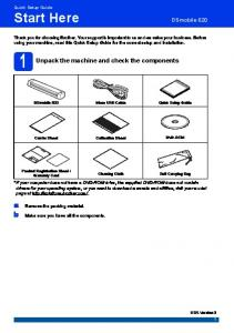 Unpack the machine and check the components