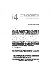 UNPAID CARERS OF PERSONS WITH DISABILITIES IN AFRICA AND LATIN AMERICA: GENDER, HUMAN RIGHTS AND INVISIBILITY