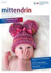 Unser Mieterbaby 2016 Herzlich willkommen!