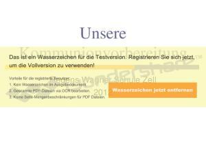 Unsere Kommunionvorbereitung. Regens Wagner Schule Zell 2012