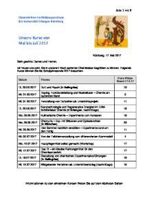 Unsere Kurse von Mai bis Juli 2017