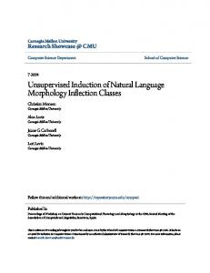 Unsupervised Induction of Natural Language Morphology Inflection Classes