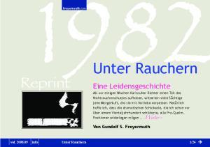 Unter Rauchern Reprint