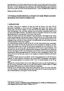 UNTERGANGSVORSTELLUNGEN IN DER WESTLICHEN SCIENCE FICTION-LITERATUR