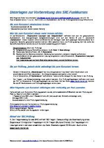 Unterlagen zur Vorbereitung des SRC-Funkkurses