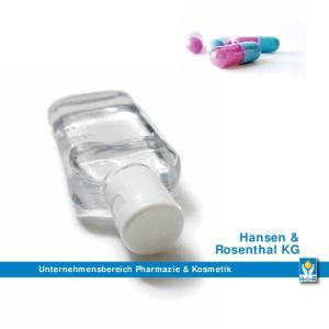 Unternehmensbereich Pharmazie & Kosmetik. Hansen & Rosenthal KG