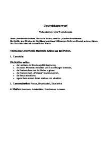 Unterrichtsentwurf. Vorbereitet von: Irena Wojciechowska