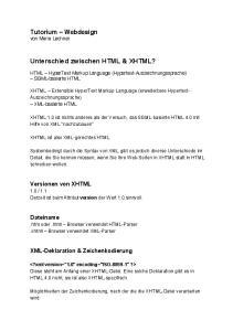 Unterschied zwischen HTML & XHTML?