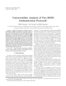Untraceability Analysis of Two RFID Authentication Protocols