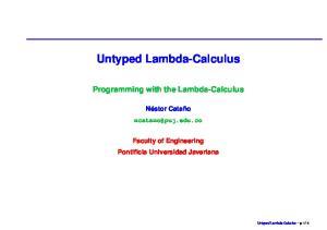 Untyped Lambda-Calculus