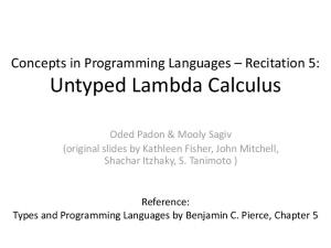 Untyped Lambda Calculus